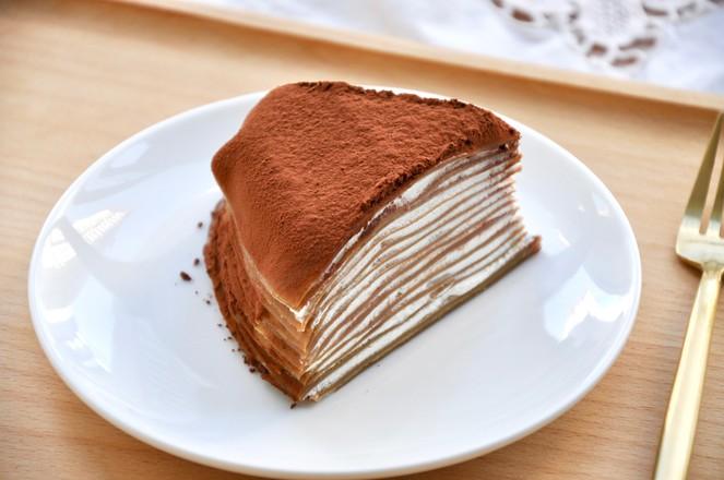 视频 摩卡千层蛋糕成品图