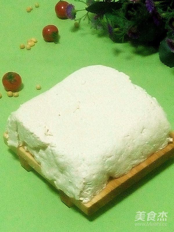 小小黄豆营养高--自制卤水豆腐成品图