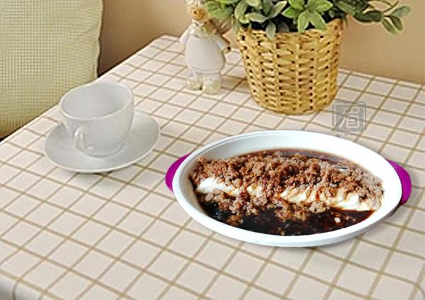 虾蓉蒸豆腐成品图