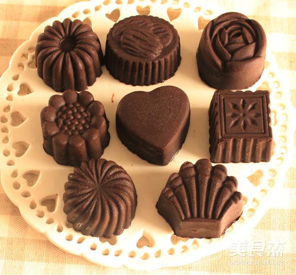巧克力月饼成品图