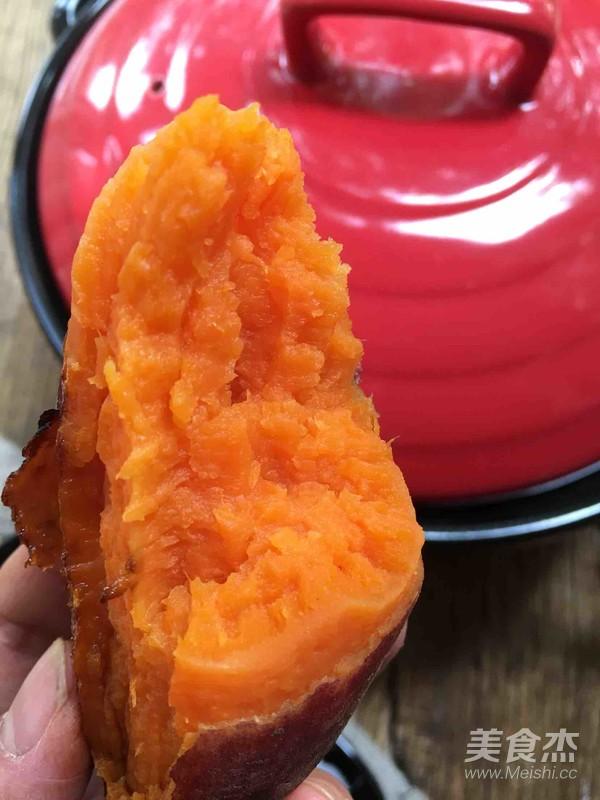 砂鍋烤蜜汁紅薯成品圖