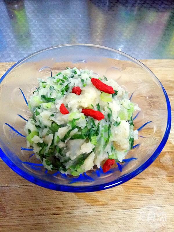 小白菜土豆泥成品图