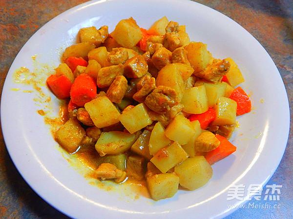 咖喱土豆鸡丁成品图