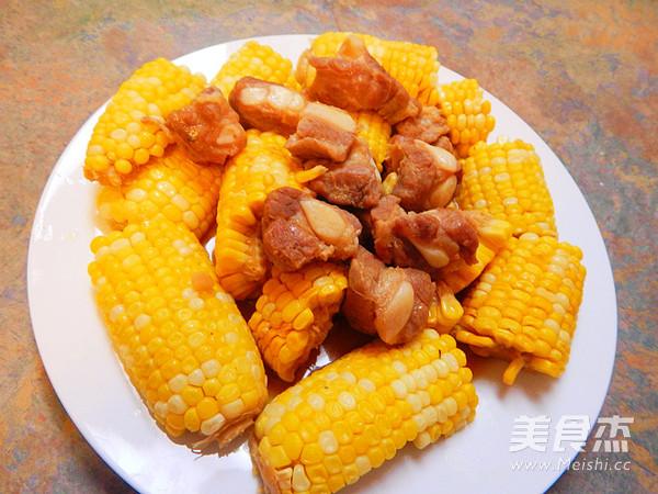 玉米烧猪软骨成品图