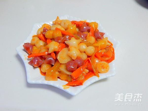 韩式辣酱炒年糕成品图