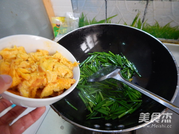 韭菜苔炒鸡蛋怎么煮