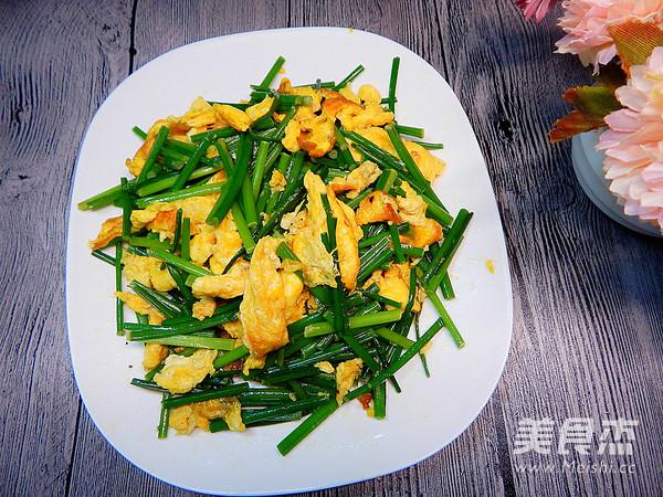 韭菜苔炒鸡蛋怎样做