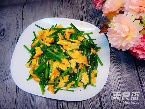 韭菜苔炒鸡蛋怎样炒