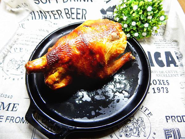 蜜汁烤鸡成品图