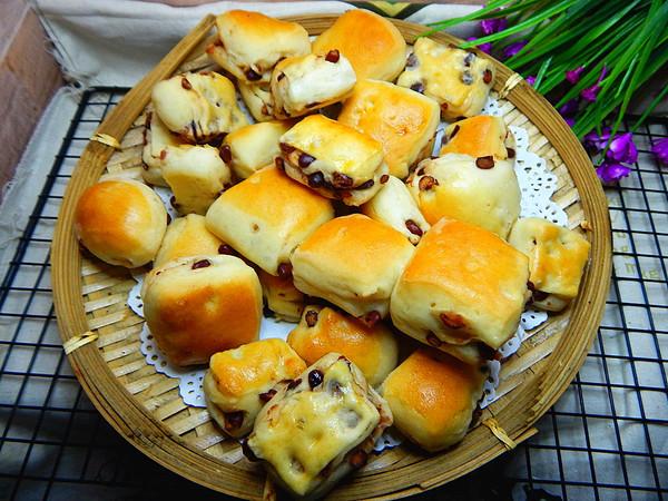 蜜豆手抓面包成品图