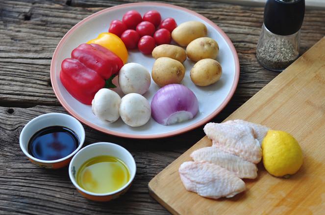 黑椒鸡翅烤蔬菜的做法大全