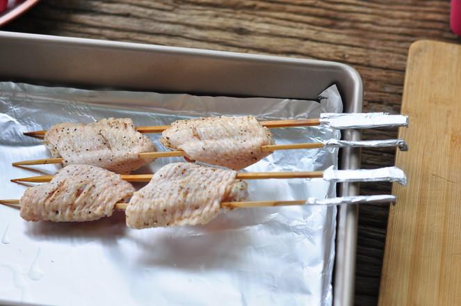 黑椒鸡翅烤蔬菜的简单做法