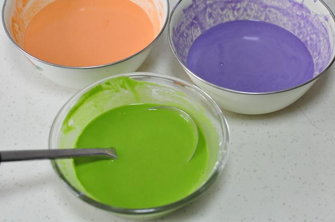 彩色薄饼的简单做法