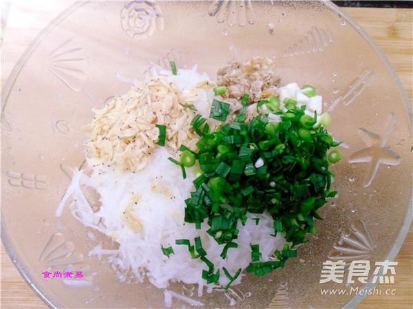 虾皮萝卜香煎饼的家常做法
