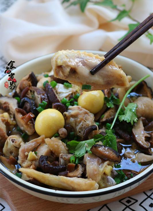 冬菇姜葱蒸滑鸡成品图