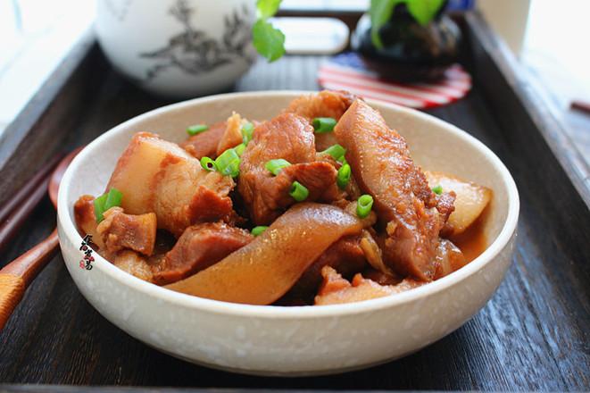 红烧猪头肉成品图