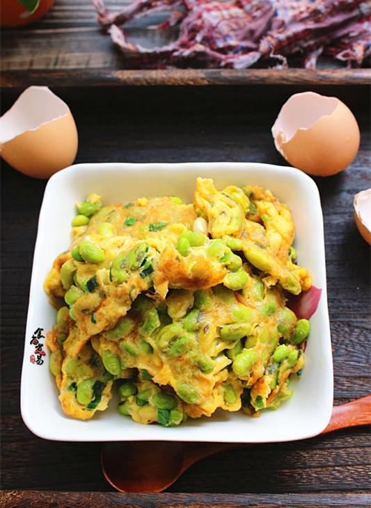 毛豆煎鸡蛋成品图