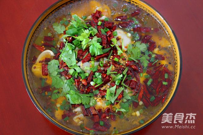 茄汁水煮鱼片成品图