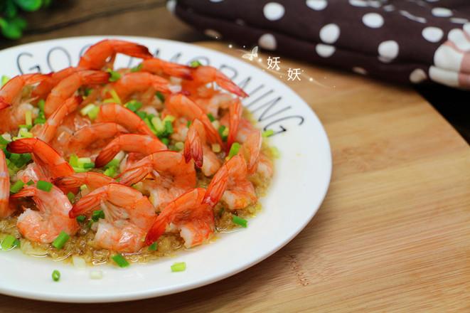 蒜蓉蒸虾成品图