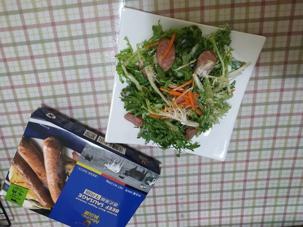 """霸王超市丨科尔沁德式黑椒牛肉肠与你的""""轻食光成品图"""