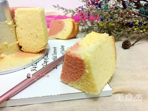 6寸双色戚风蛋糕成品图