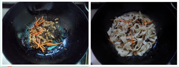 肉丝炒刀削面的简单做法