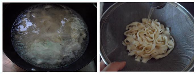 肉丝炒刀削面的做法图解