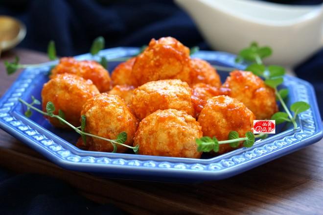 茄汁豆腐丸成品图