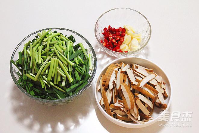 韭菜炒香干的做法图解
