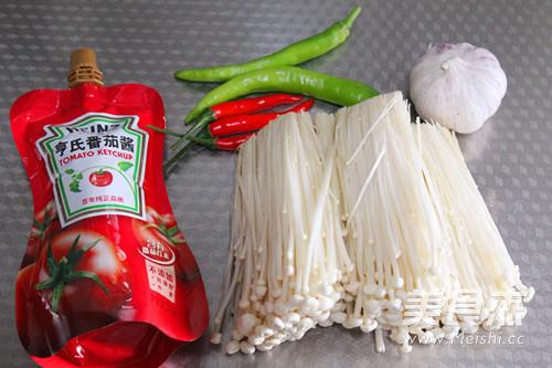 茄汁金针菇的做法大全