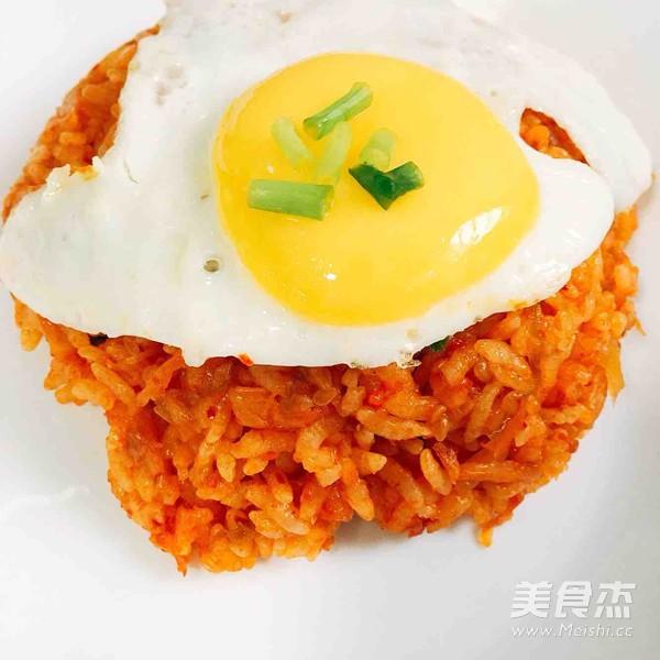 韩式泡菜炒饭成品图