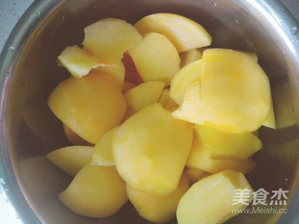 黄桃罐头的简单做法