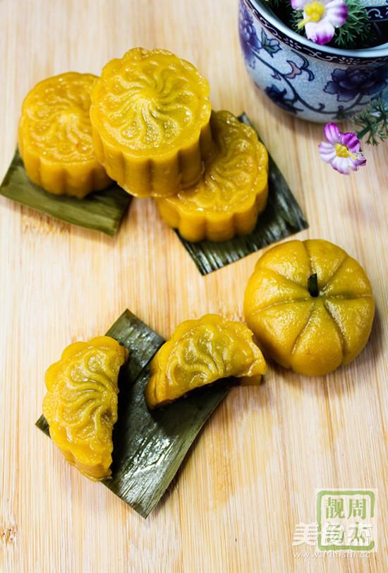 黄金南瓜饼成品图