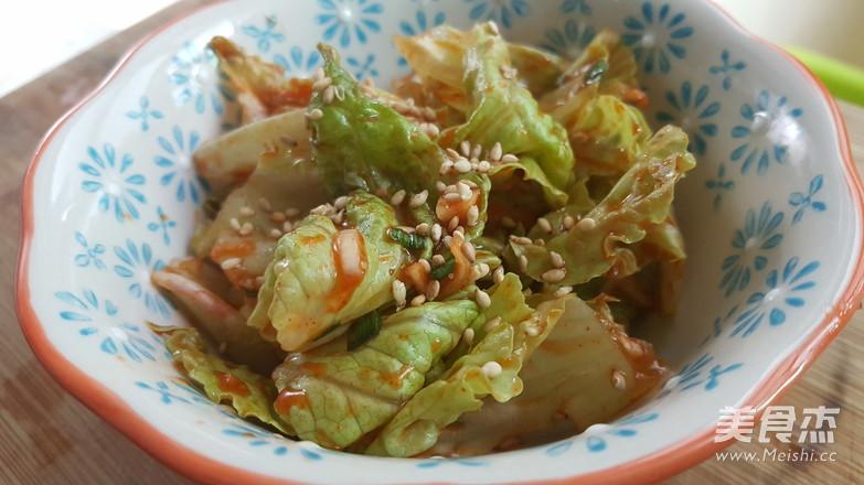 爽口小菜-韩式生菜沙拉5分钟搞定成品图