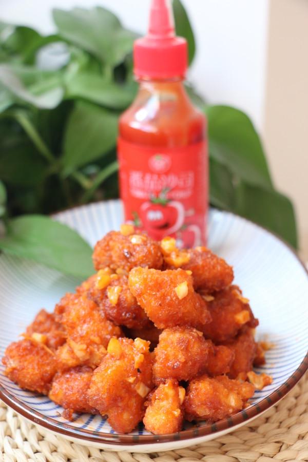 茄汁蒜香鸡块成品图