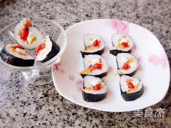 肉松寿司成品图