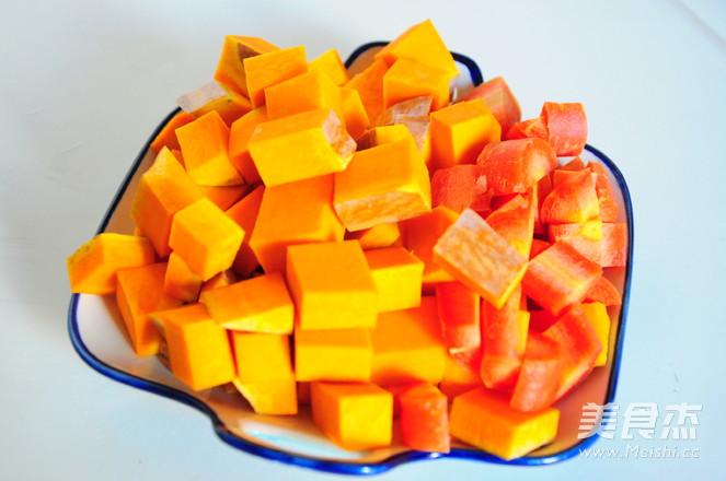 南瓜胡萝卜浓汤的做法图解