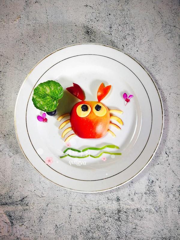 苹果螃蟹成品图