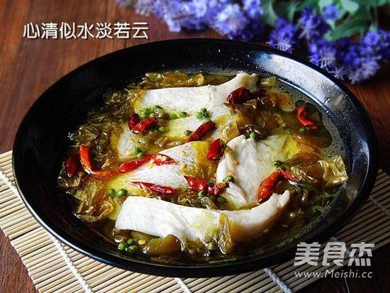 青花椒酸菜鱼成品图