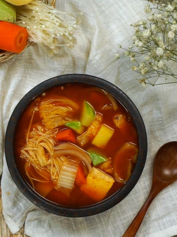大酱汤成品图