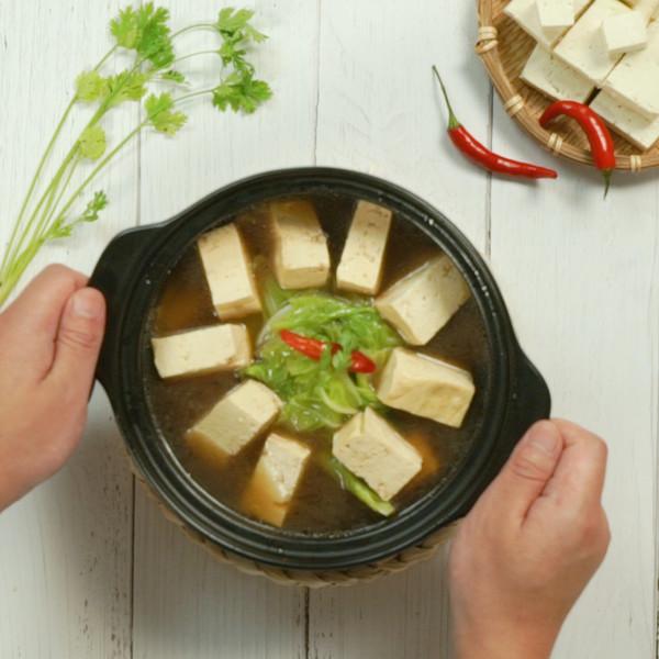 白菜豆腐汤成品图
