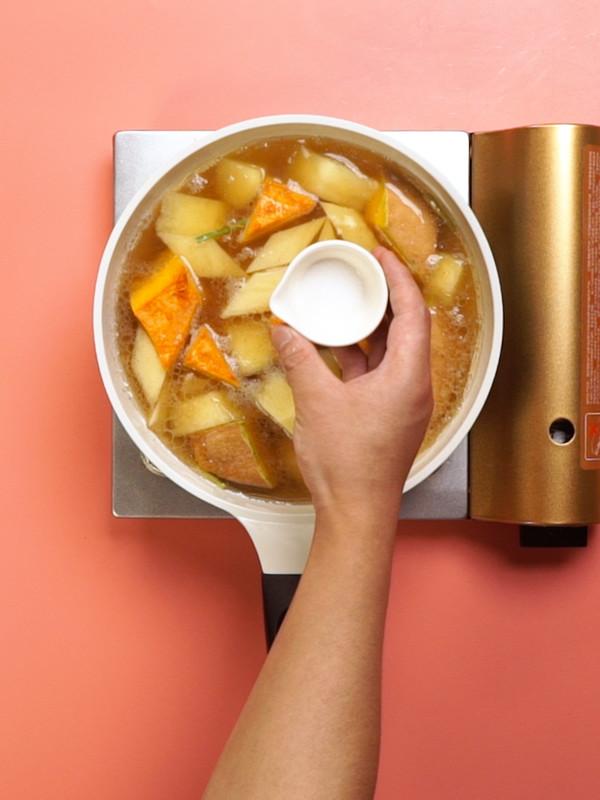 南瓜炖土豆的简单做法