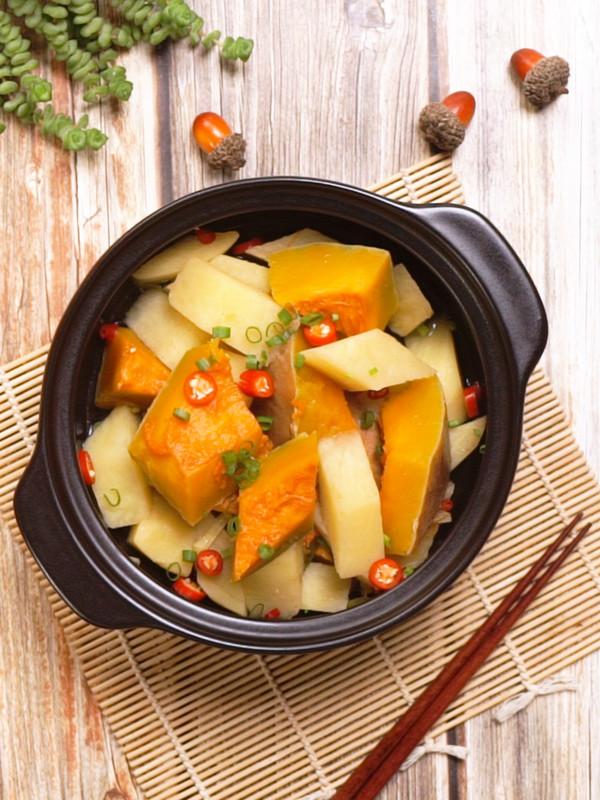 南瓜炖土豆成品图