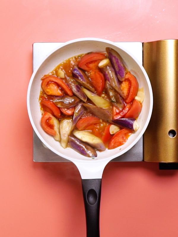 西红柿烧茄子的简单做法