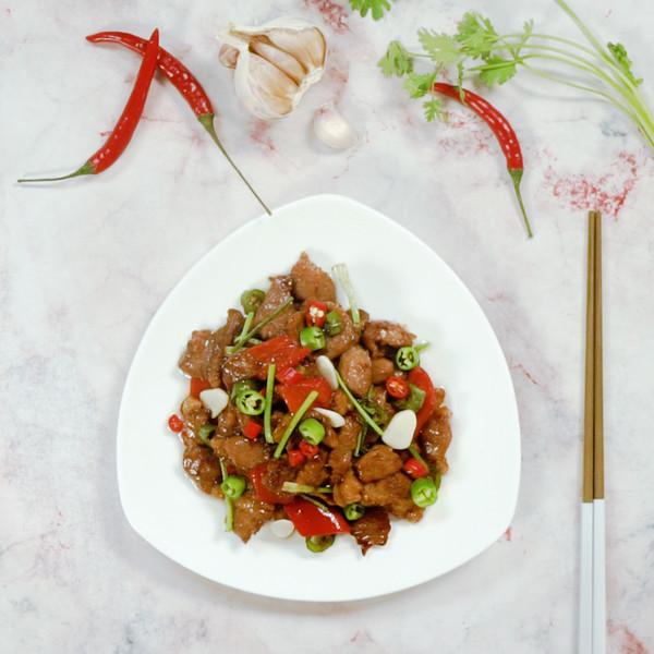 辣椒炒肉成品图