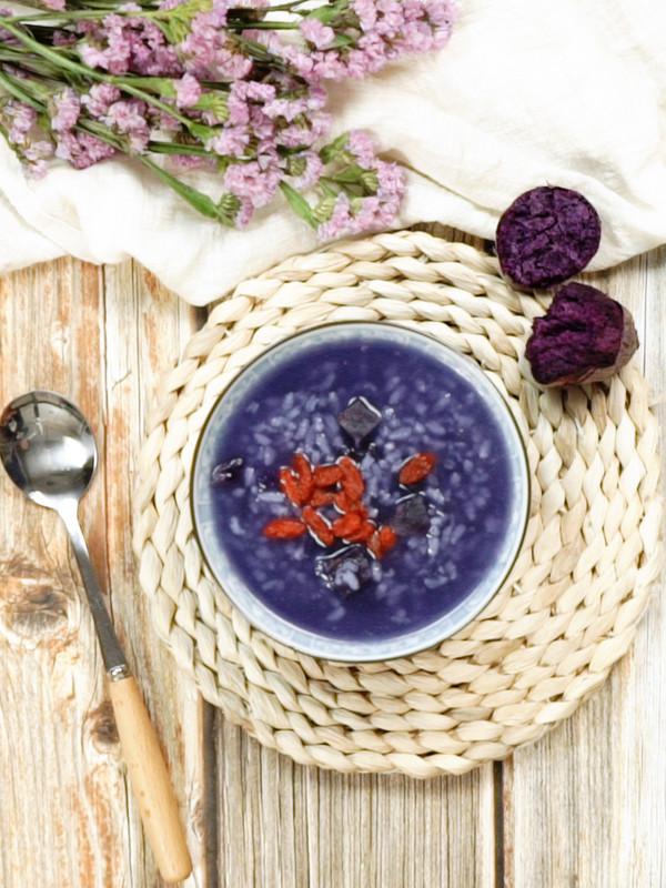 紫薯粥成品图