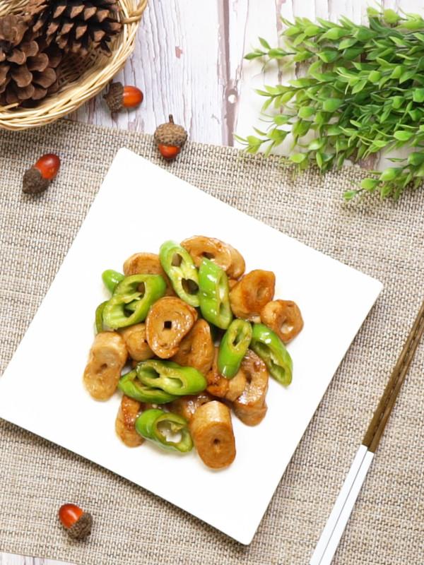 青椒炒素鸡成品图