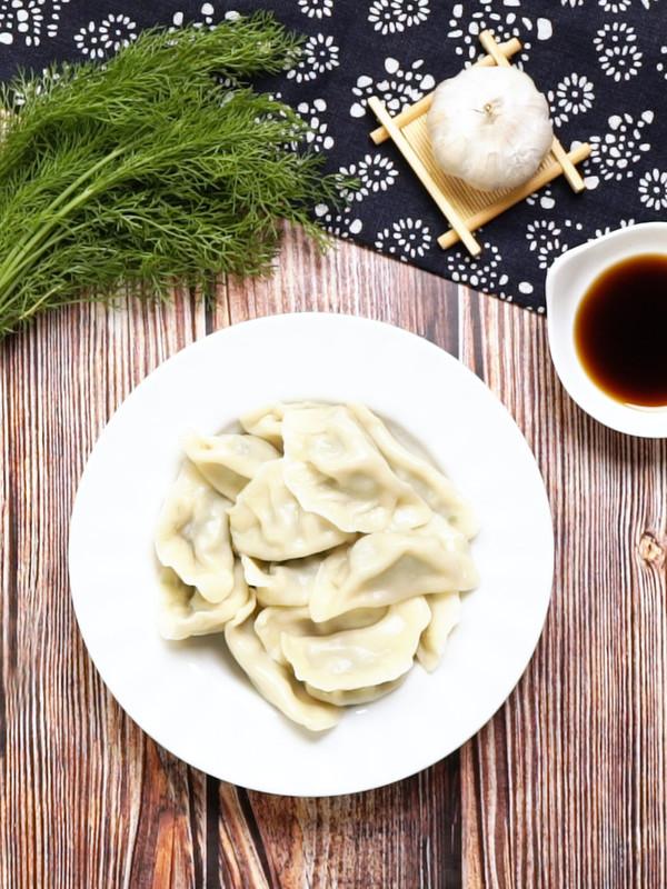 茴香饺子成品图