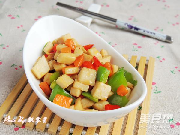 素炒杏鲍菇成品图