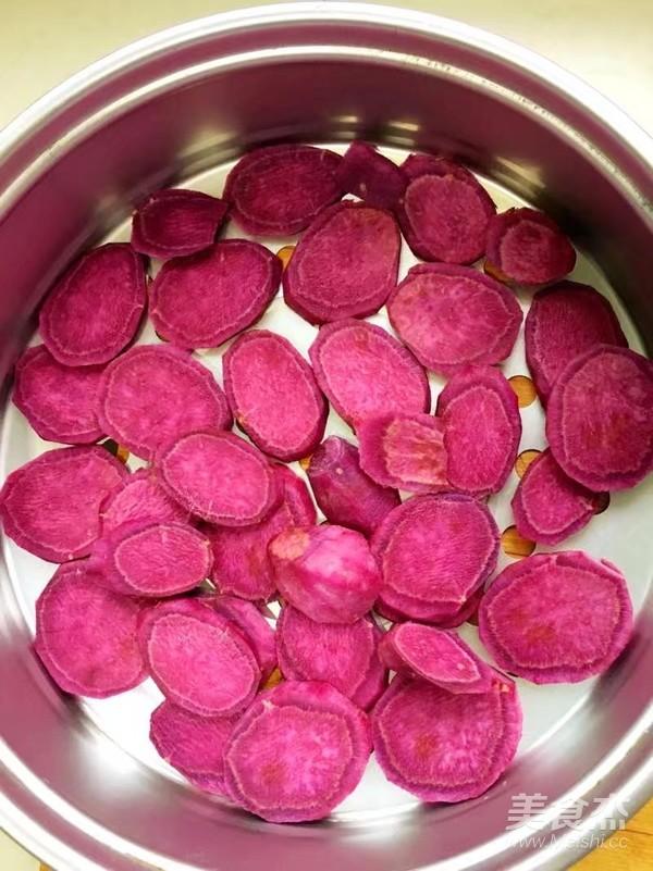 紫薯牛奶小方的做法图解